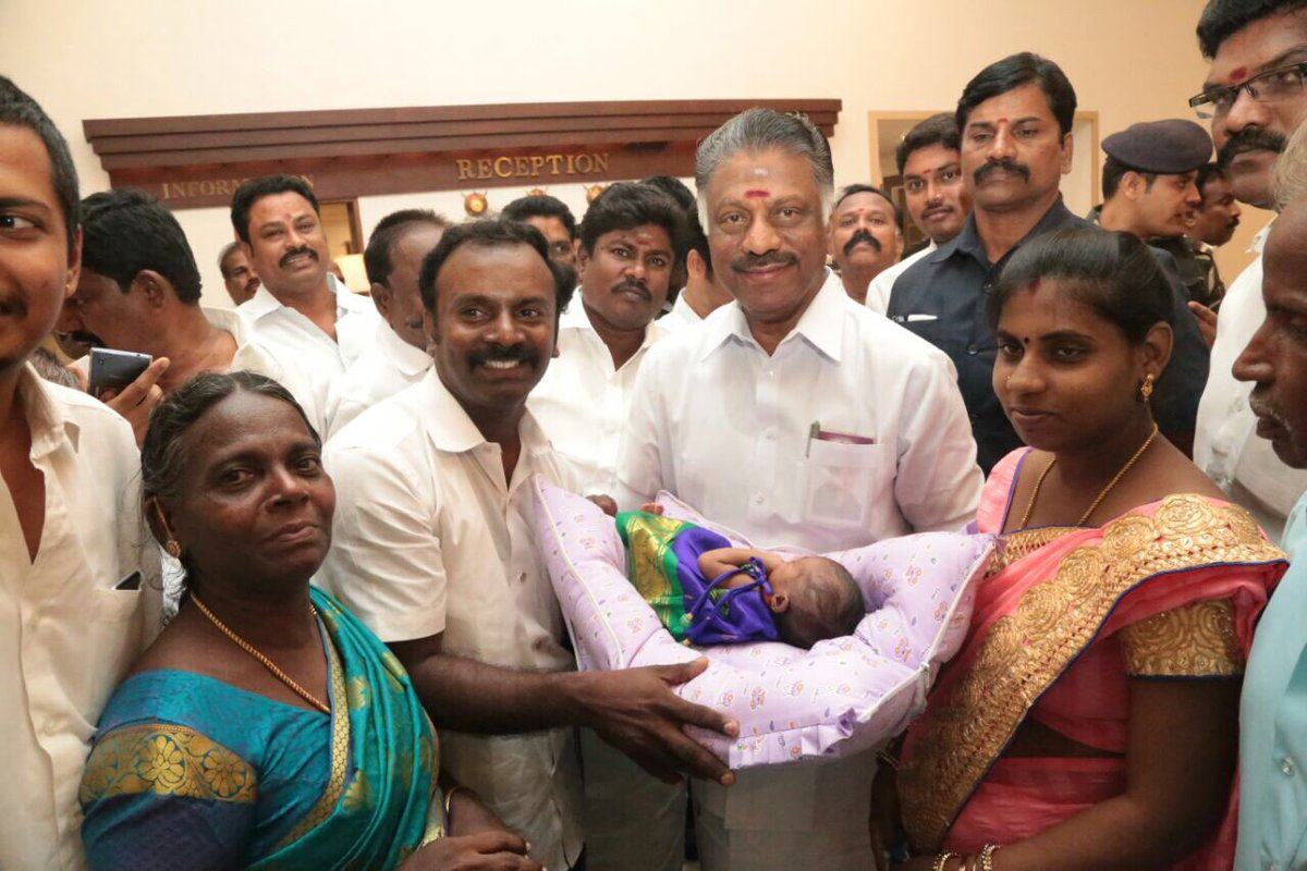 @mafoikprajan  #ops sir Blessed and named a baby girl Deepika at Thanjavur. <br>http://pic.twitter.com/Y86uViZWLm