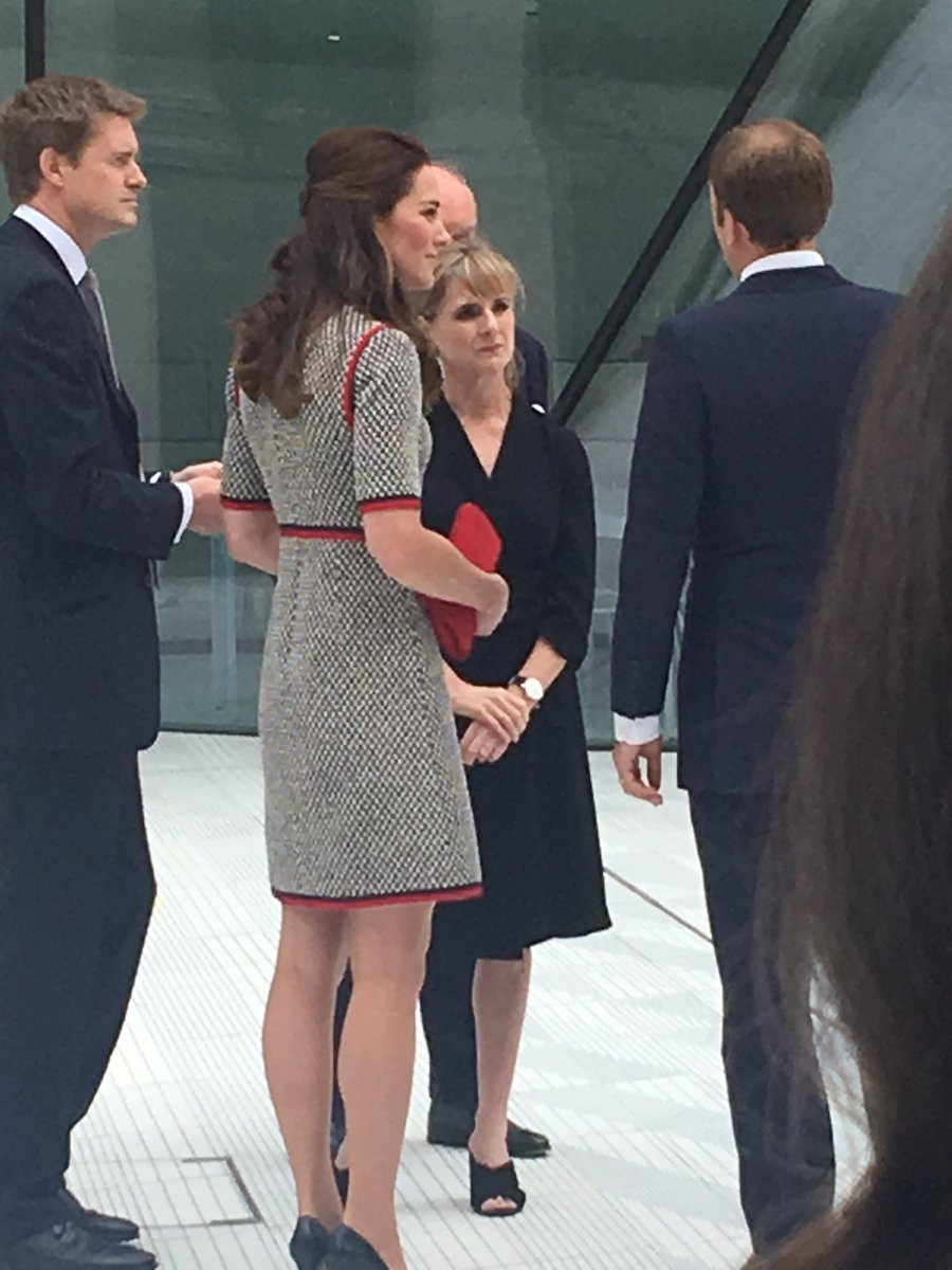 Quite a sassy @gucci mini dress for the Duchess of Cambridge today htt...
