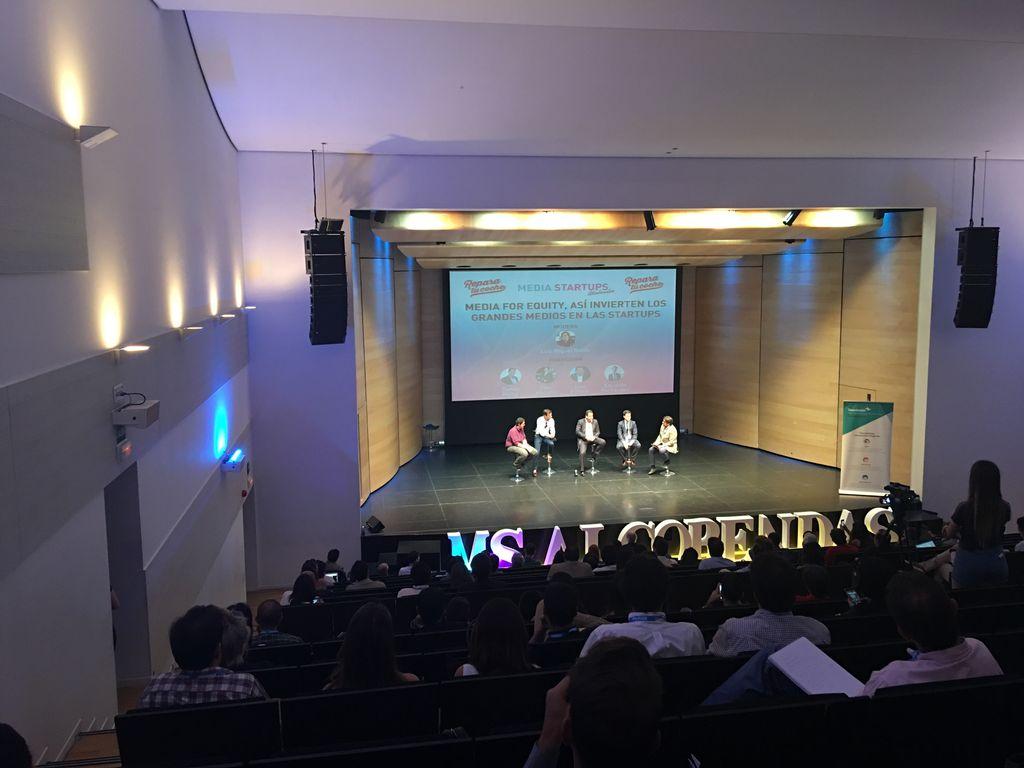 Estamos en #MSAlcobendas con @media_startups hablando de startups y me...
