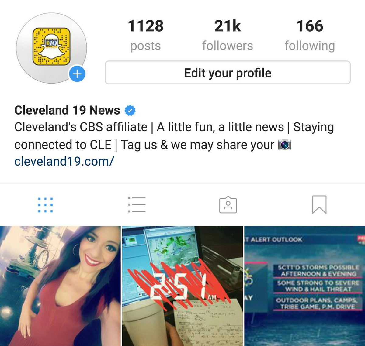 It&#39;s a busy morning! Talking storm potential, high heat, AND taking over the @cleveland19news #Instagram page!  Follow along! <br>http://pic.twitter.com/yYR224mkg4