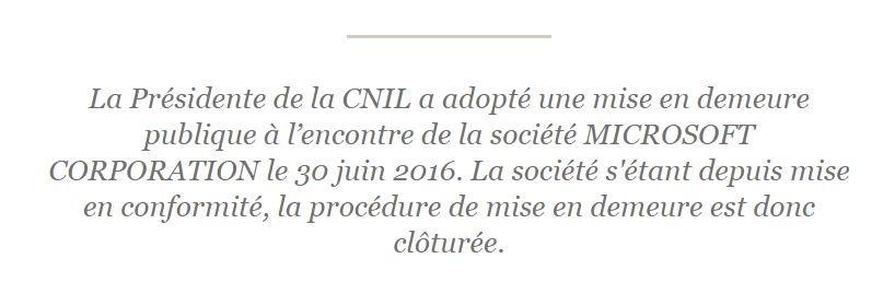Cnil On Twitter Windows10 Cloture De La Procedure De Mise En