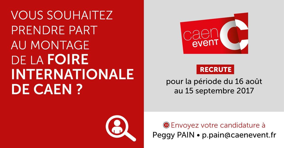 [OFFRE D'EMPLOI⏱] Caen Event recrute du 16 août au 15 septembre pour le montage de la #FoiredeCaen ! https://t.co/yNdRuGs5l4 https://t.co/qyEVPdN34A
