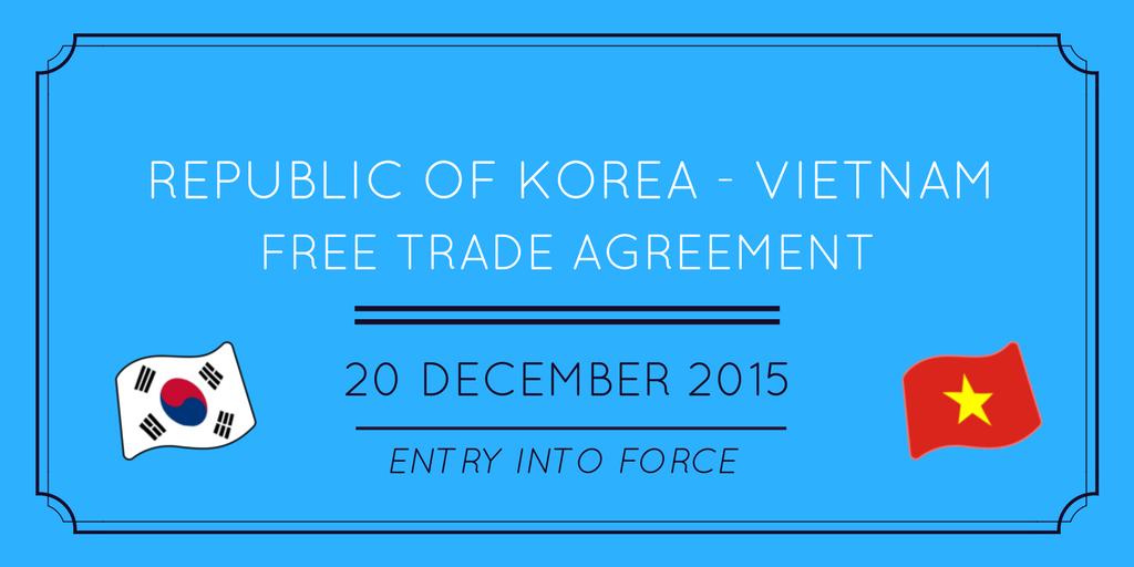 Wto On Twitter Wto To Discuss Korea Vietnam Free Trade Agreement