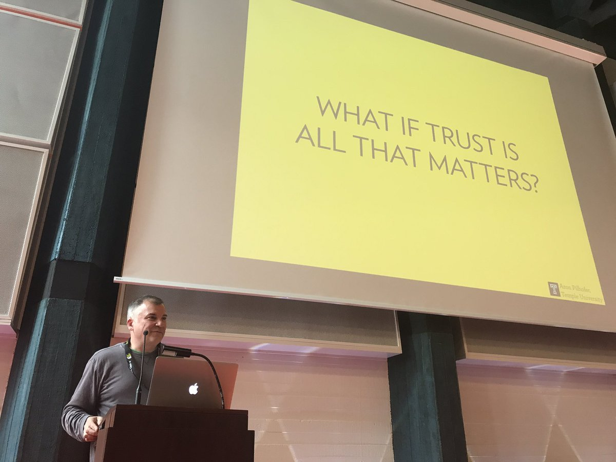 Re the title of his talk, @pilhofer asks 'How would that change what w...