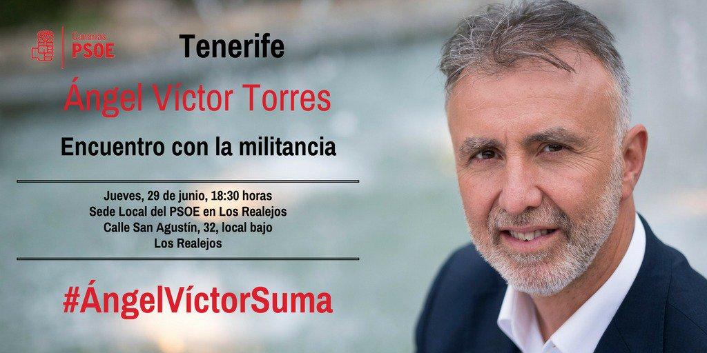 HOY jueves, @avtorresp se encuentra con la militancia eN Los Realejos....