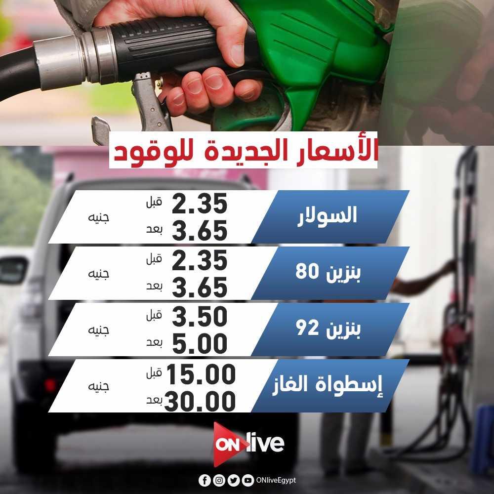 #عاجل | أسعار الوقود الجديدة التي تم تطبقيها بدءًا من صباح اليوم #ONLI...