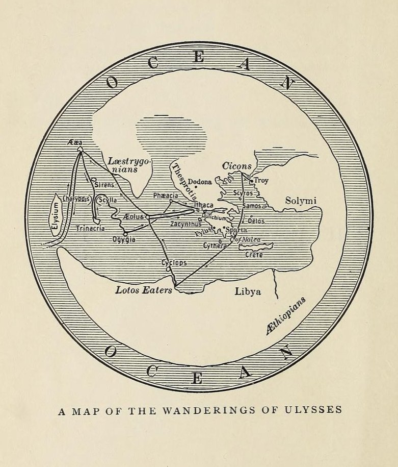 'The Adventures of Ulysses' Charles Lamb  https:// archive.org/details/advent uresofulys00lamb &nbsp; …  via @internetarchive #JamesJoyce #Ulysses #Map Map by Otho Cushing. <br>http://pic.twitter.com/pZhCP1D5jt