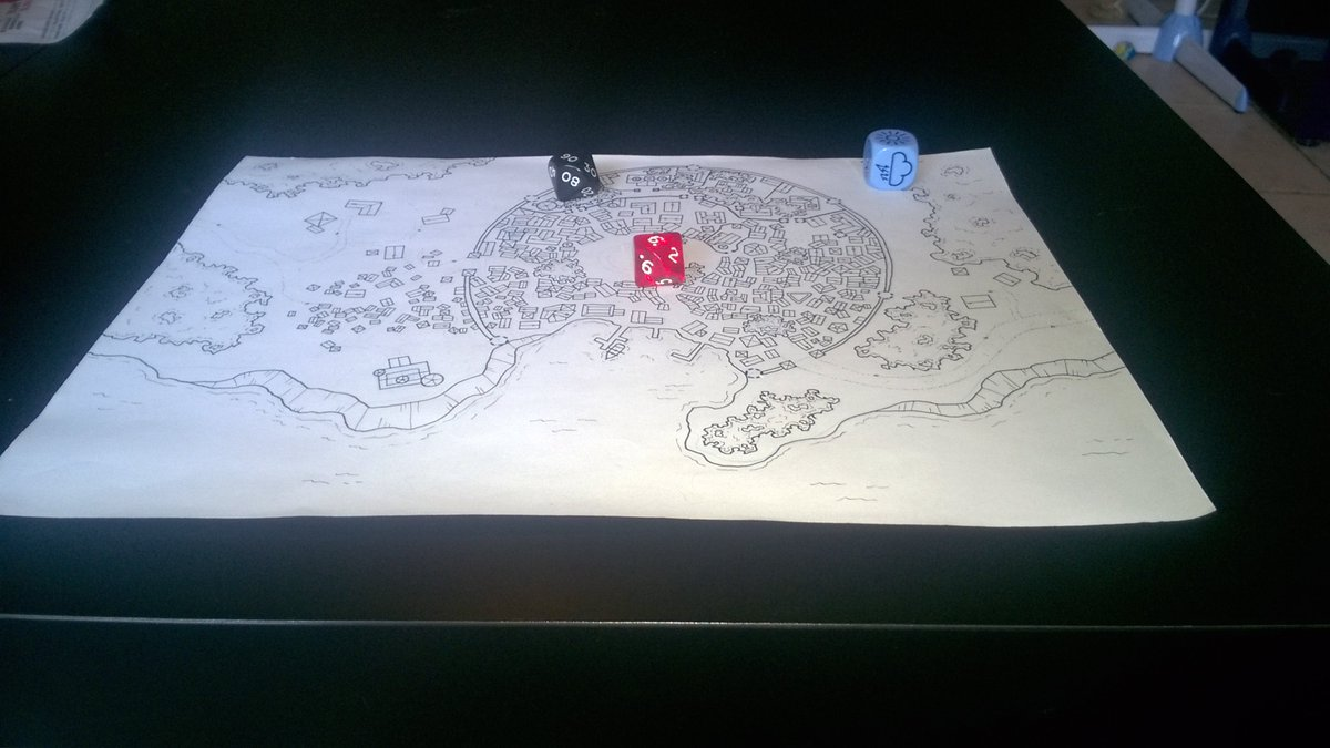 Wip - City map commissioned by @Limitless5e  #rpg #map #cartography #dnd #jdr<br>http://pic.twitter.com/GwQ19usXRO