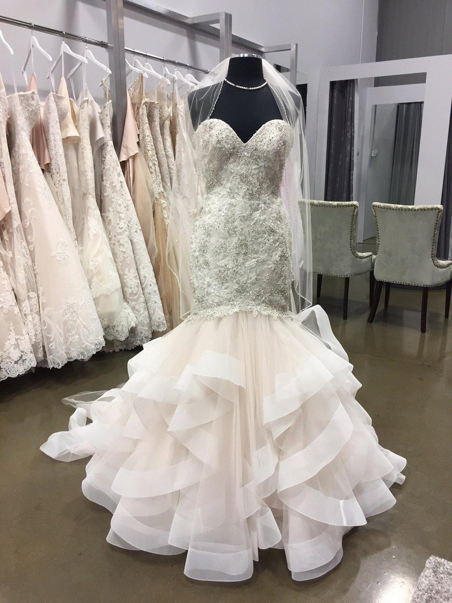 """Bridal Debut on Twitter: """"Allure style #9421, our sample is size 10 in  champagne/ivory/silver. #bridaldebut #albertabride #allurebridals… """""""