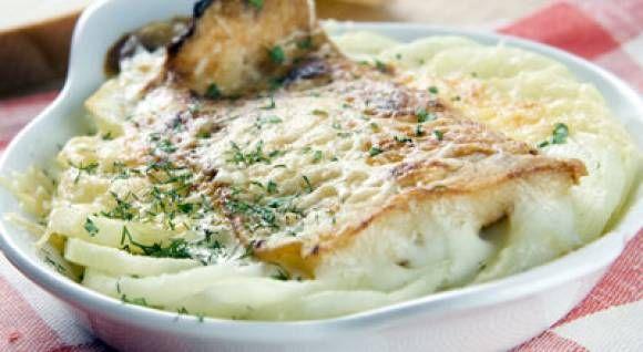 Рыба запеченная в духовке с картошкой