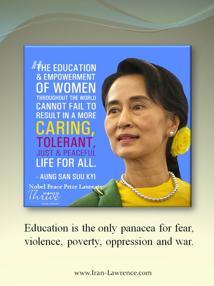 #Education is the only #panacea for fear, violence, #poverty, #oppression and war. <br>http://pic.twitter.com/kNuc0Qnq6u