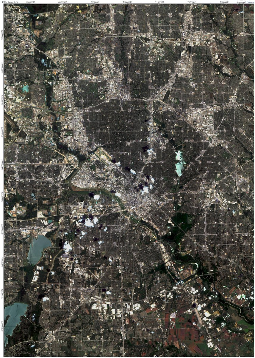 #Dallas, #Texas from #space! Whole scene and a thumbnail of the downtown. Download at:  http:// sevcikcartography.wixsite.com/cartography/da llas &nbsp; …    @CopernicusEU, #map, #GIS<br>http://pic.twitter.com/IG8a5IcaNl