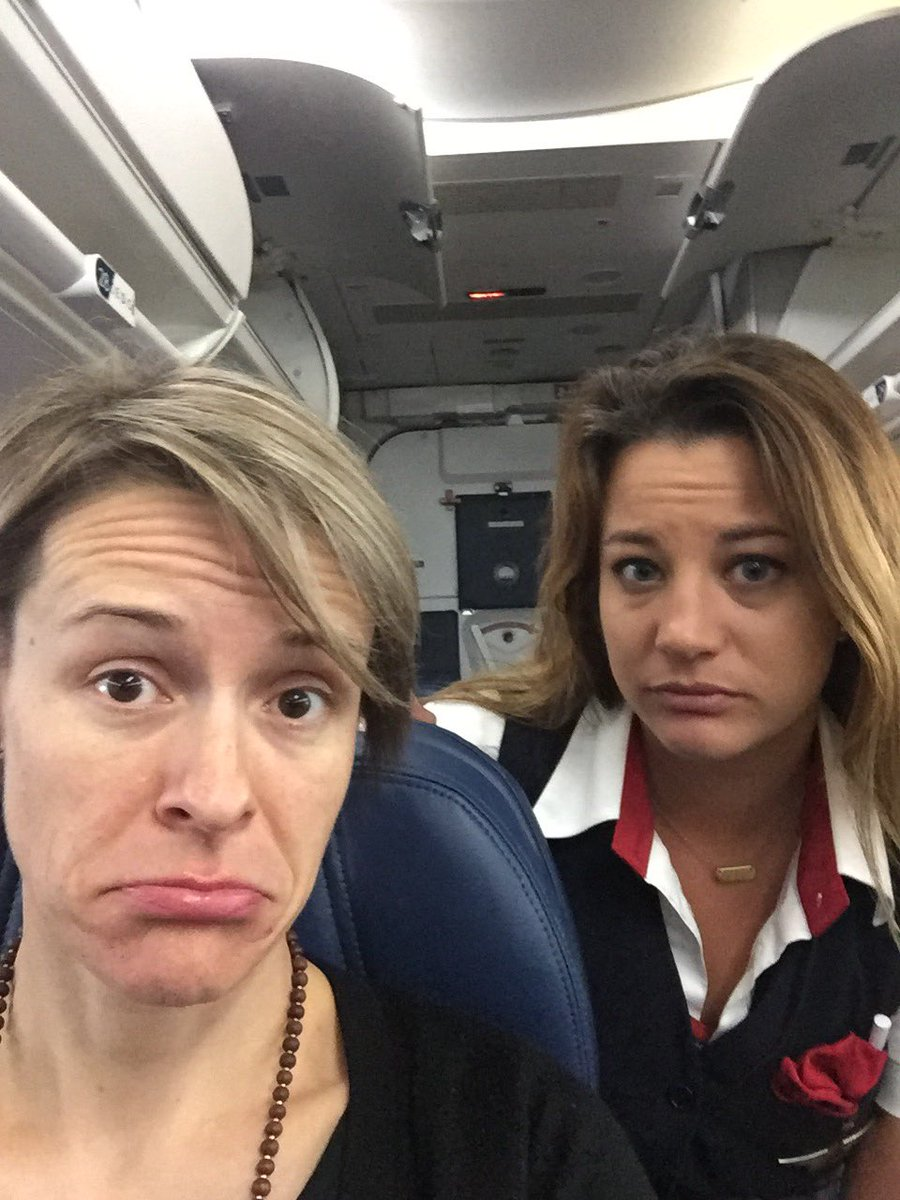 Even my flight attendant understands the #sadselfie #iste17 @MsMagiera.  Until next time my dear friends. Thanks for the best conference!<br>http://pic.twitter.com/KFLsjeCXXq