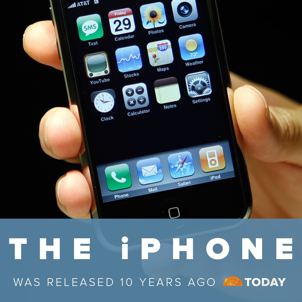 HAPPY BiRTHDAY to the device that's changed our lives! #iPhoneAt10 htt...