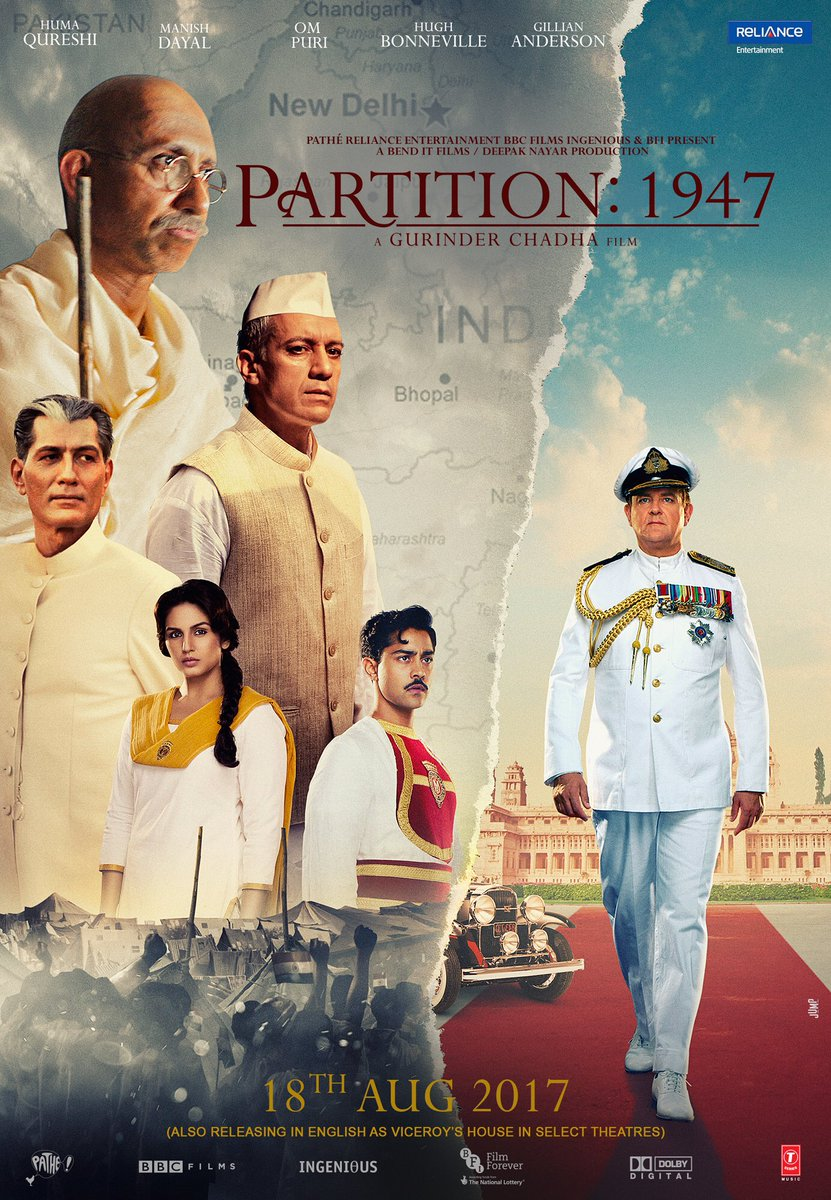 Here's the first poster of #Partition1947 directed by Gurinder Chadha!...