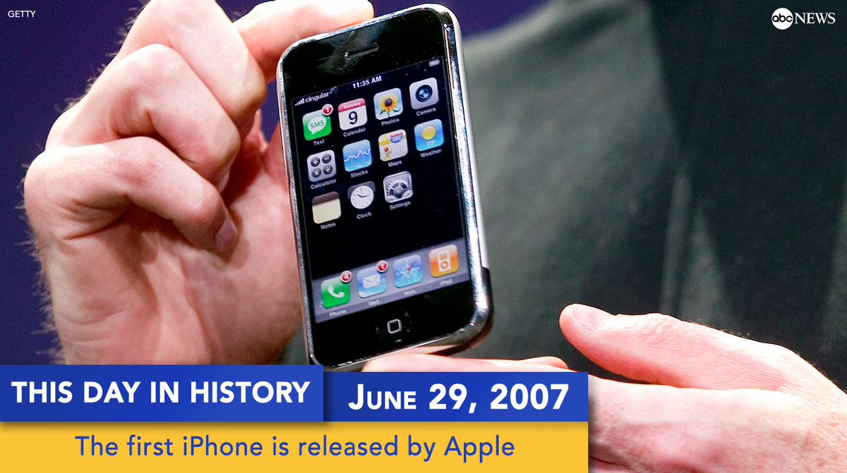The first iPhone was released by Apple on this day 10 years ago. #iPho...