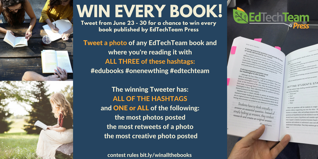 TOMORROW IS THE LAST DAY TO Win All The Books! #iste17 #edubooks #onenewthing #aussieed<br>http://pic.twitter.com/PBvVmll1Pa