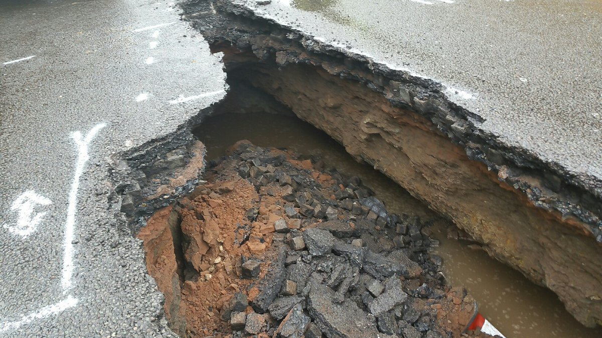 More pictures from the sink hole that's appeared on Edge Lane in Liver...