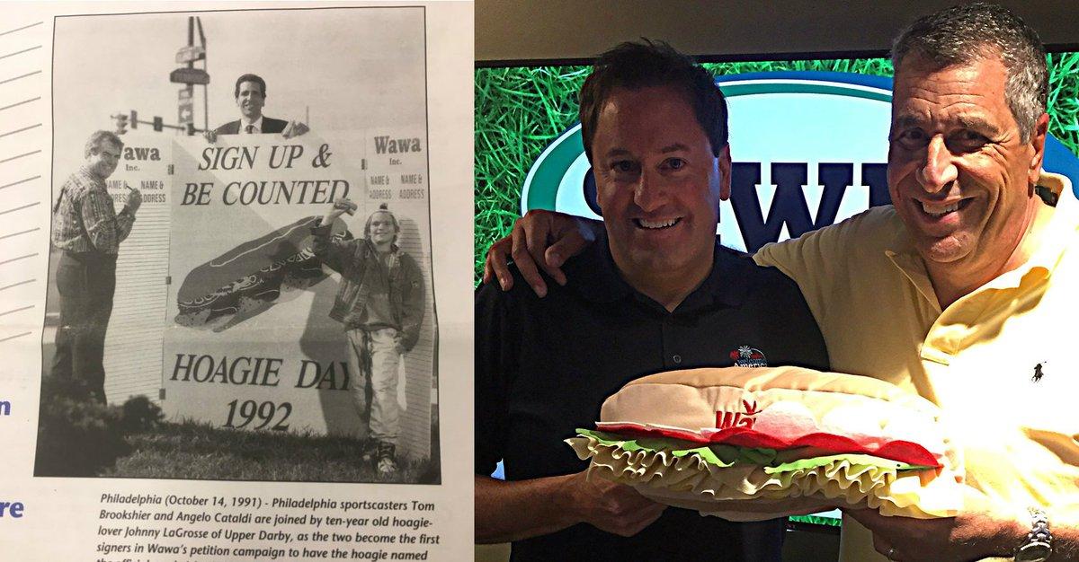 Wawa has been celebrating #WawaHoagieDay for 2⃣5⃣ years.   @AngeloCata...