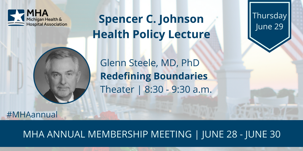 Up first this morning to kick off the #MHAannual meeting general sessions is Glenn Steele, MD, PhD, former president & CEO @GeisingerHealth! https://t.co/tYk8incO9t