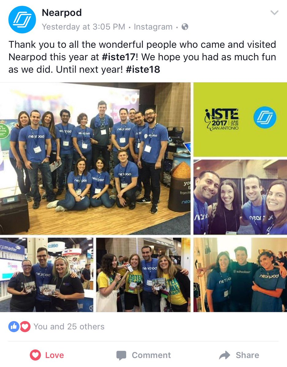 @swoods245 we made the @nearpod collage on Facebook! #iste17 <br>http://pic.twitter.com/T9cvH78wEn
