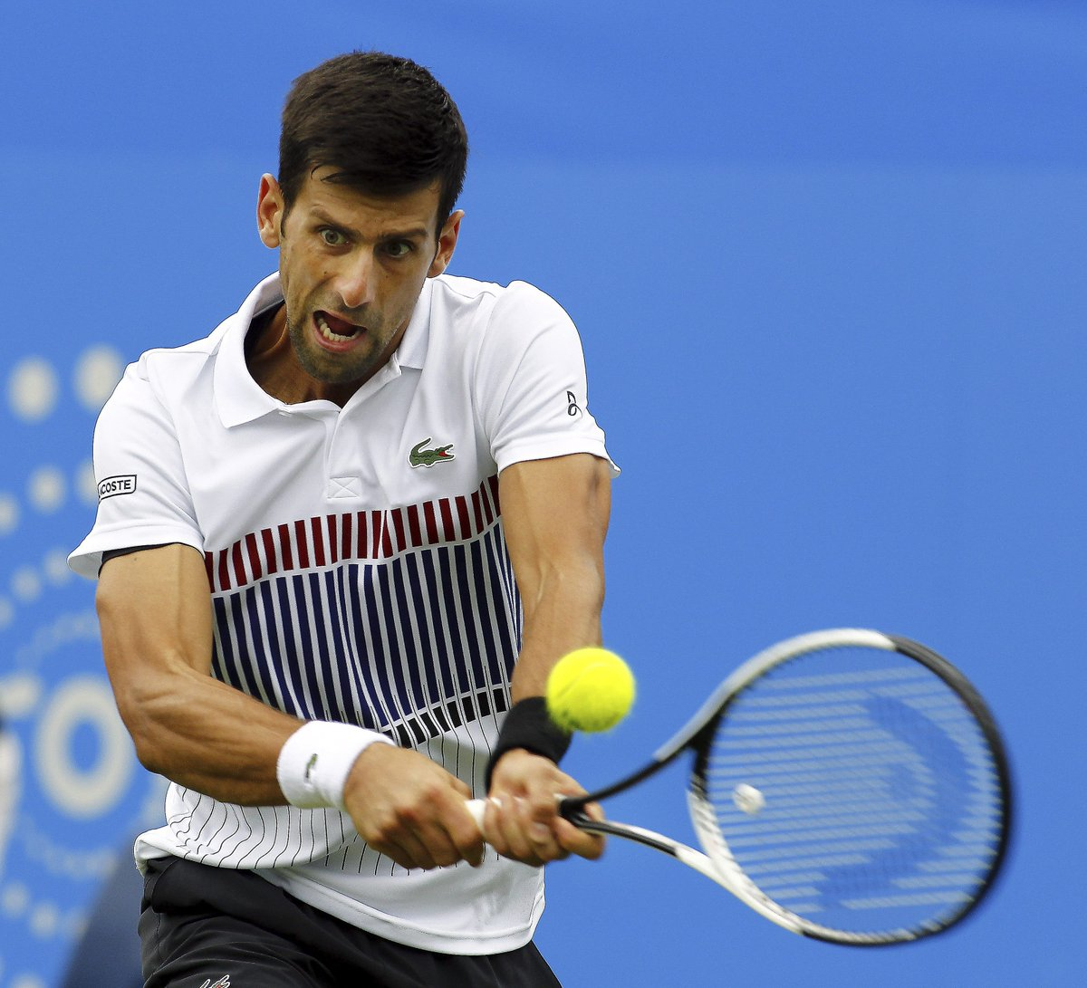 Not so easy win for Novak #Djokovic vs Donald Young 6-2 7-6 to advance...