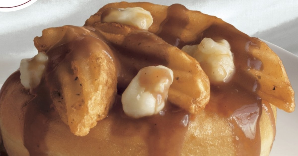 Would you want to try Tim Hortons' poutine doughnut? https://t.co/F3g3...