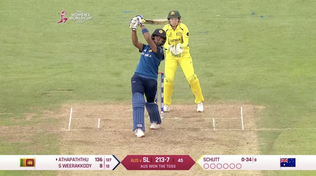 What. A. Knock. 🙌 #WWC17   Watch Chamari Atapattu's incredible 178*: h...