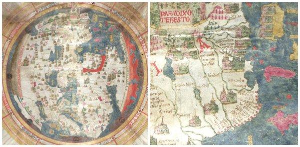 Mapa–múndi medieval raro, de cerca de 1452. Também usado como um cartão de Natal em 1952: #Maps #MappaMundi https://t.co/upfjU2ZKNK https://t.co/9P2ghIfwyk