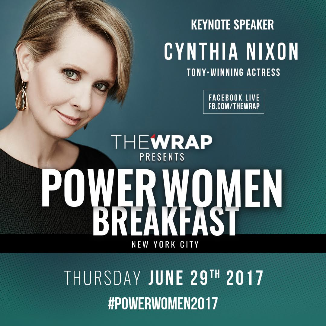 🔴 NOW LIVE: #CynthiaNixon at The #PowerWomen2017 Breakfast on Facebook...