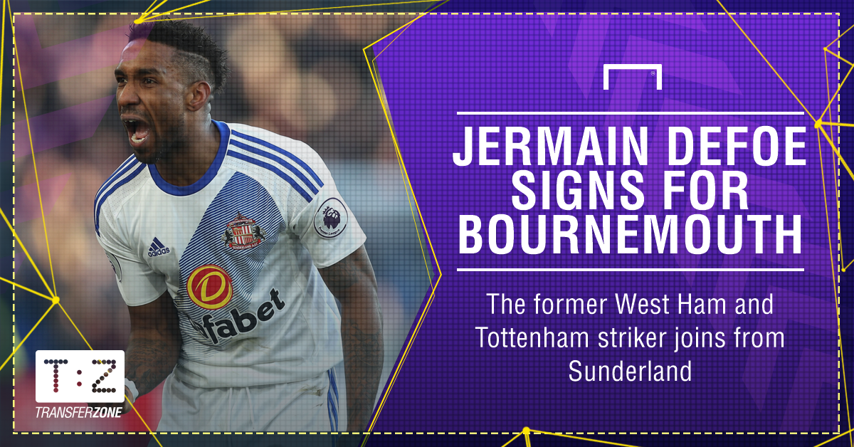 Bournemouth have completed the signing of Jermain Defoe on a three-yea...