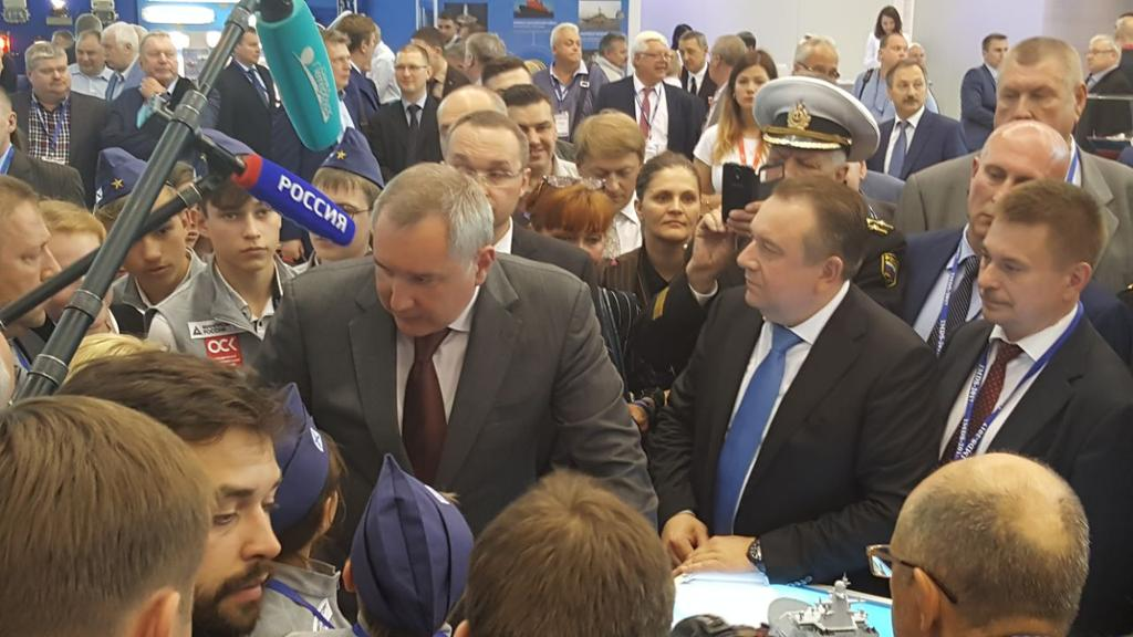 The opening ceremony of International Maritime Defense Show in St Petersburg