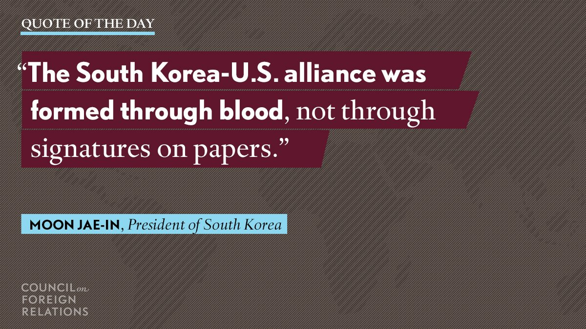 #Quote of the day from South Korean President Moon Jae-in: https://t.c...