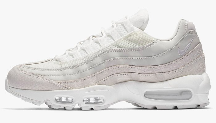Couple spots for NEW 'Snakeskin' Air Max 95 PRM 'Summit White'  https:...