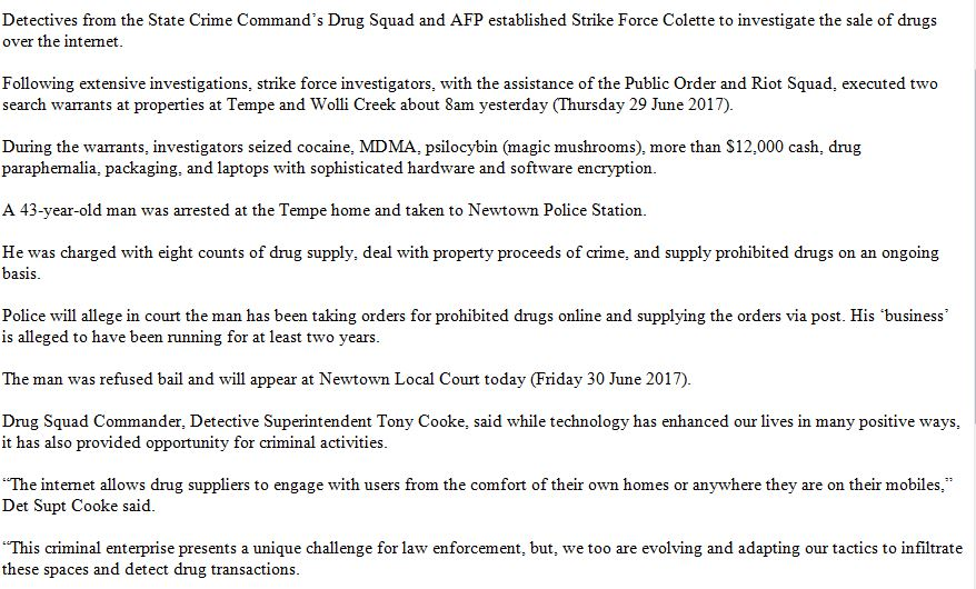 Man charged following joint investigation by nsw police