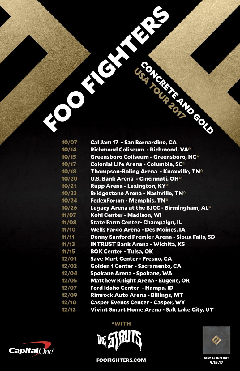 Foo Fighters On Twitter Concrete And Gold Tour Goes On