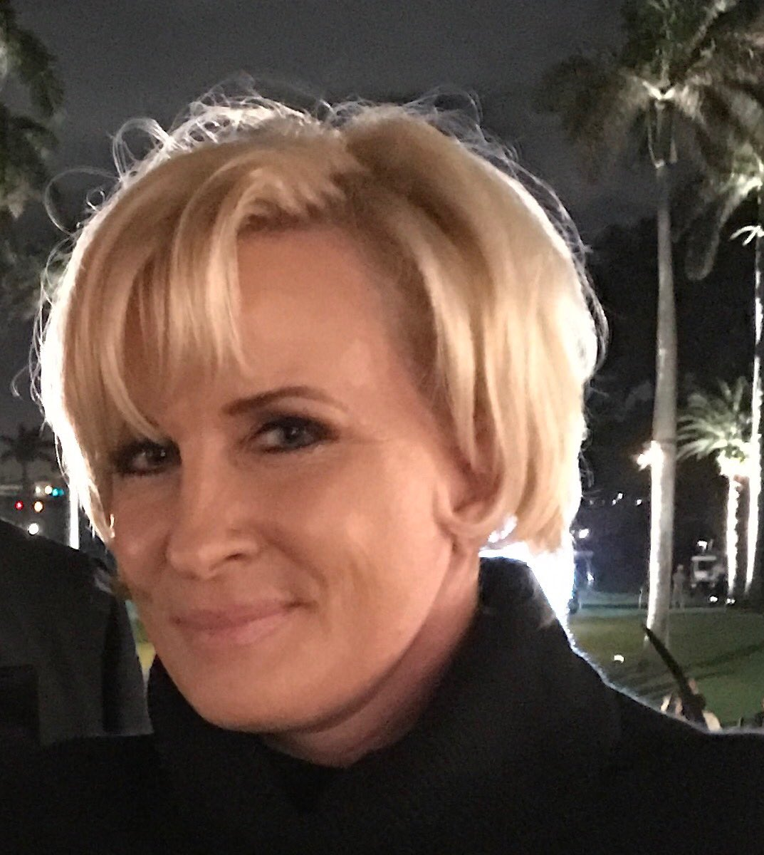 For the record, this is a picture of @morningmika at Mar-a-Lago at the time Trump is claiming she was 'bleeding badly.'