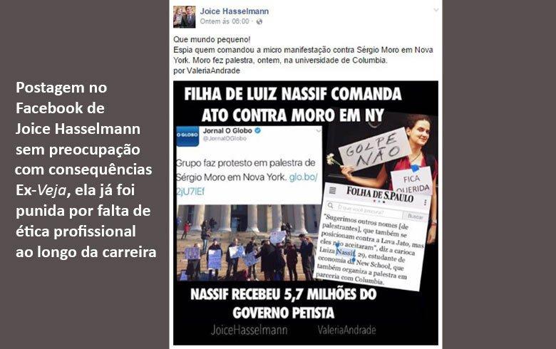 Joice Hasselmann é condenada a indenizar filha de Luis Nassif por notícia falsa https://t.co/2fTdtJnpLt