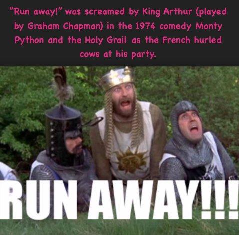 MST3K Riffs Ep 107 Robot Monster  &quot;Run away!&quot;  #GrahamChapman #flingingnotcowpiesbutactualcows .@montypython<br>http://pic.twitter.com/JYdsVIVqrM