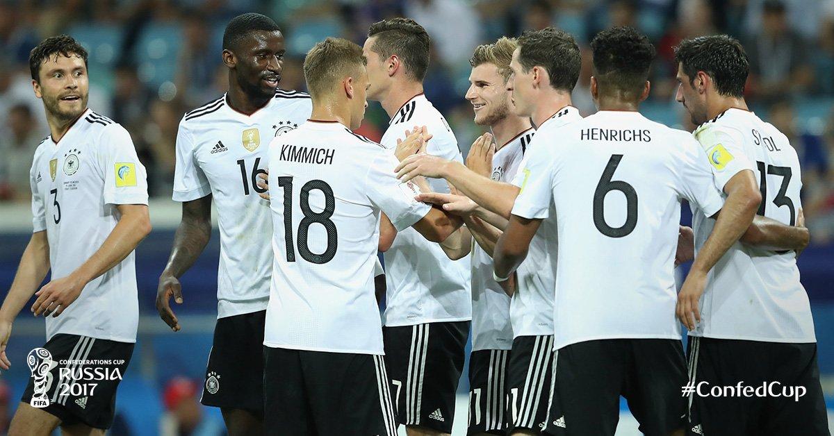 شاهد | ألمانيا تقسو علي المكسيك برباعية وتتأهل لنهائي كأس القارات