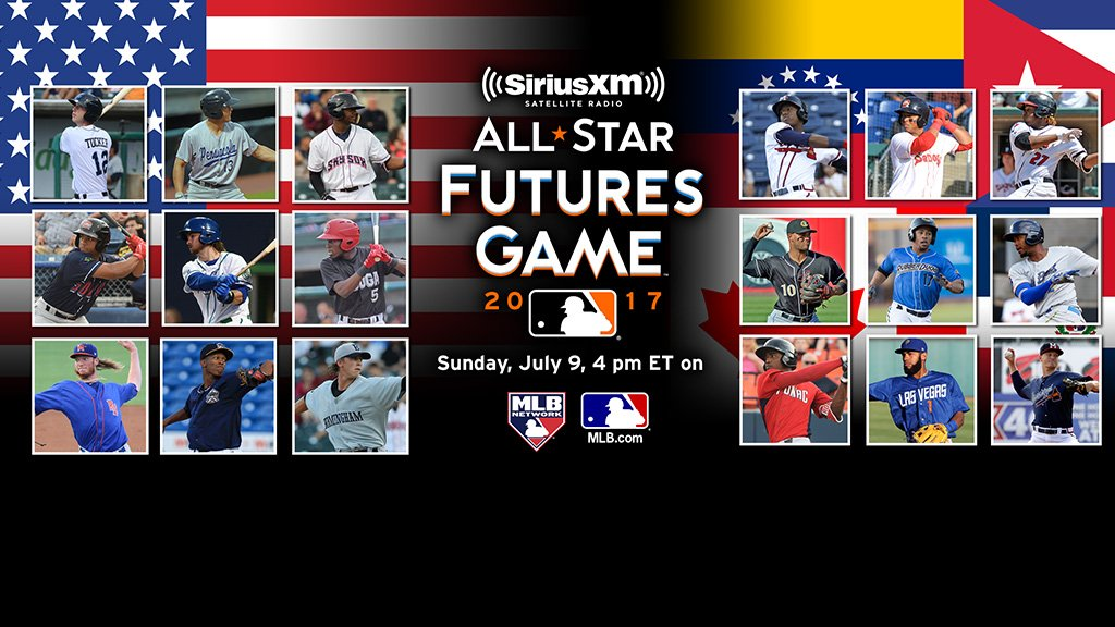 05c147454 2017 Futures Game rosters revealed! 27 of  MLB s Top 100 Prospects pack  U.S.   World squads. Dig in! http   atmlb.com 2toREbO  pic.twitter.com 0eo9LrLXvk