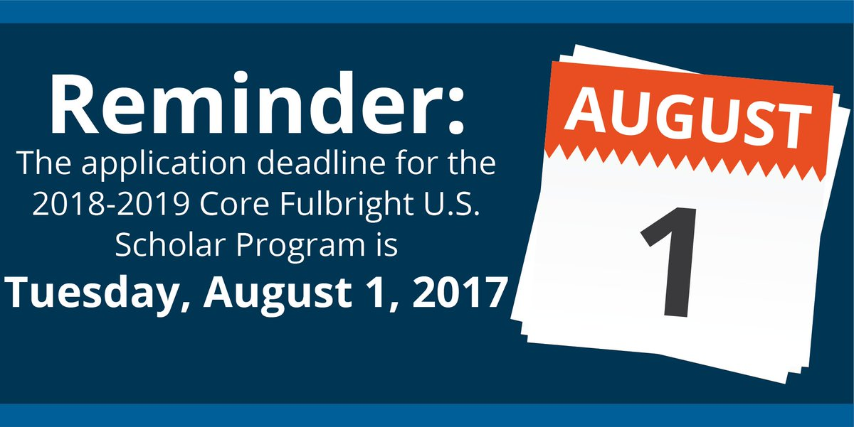 USUK Fulbright On Twitter US Academics And Professionals Apply - August 1