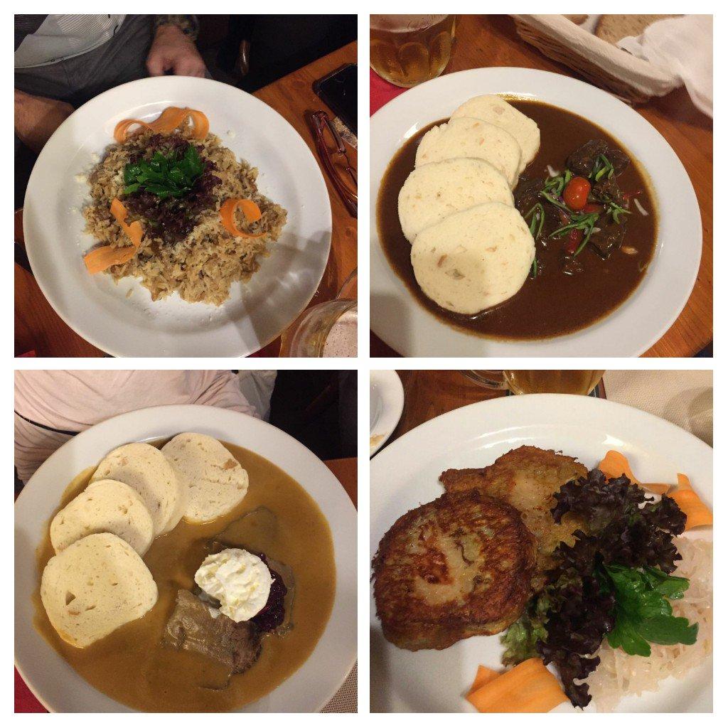 Una muestra de los platos que hemos compartido en la comida. Nadie quería renunciar a nada!  #BlondieOnTour #goulashporcuatrodurospic.twitter.com/6Ntno6SveZ