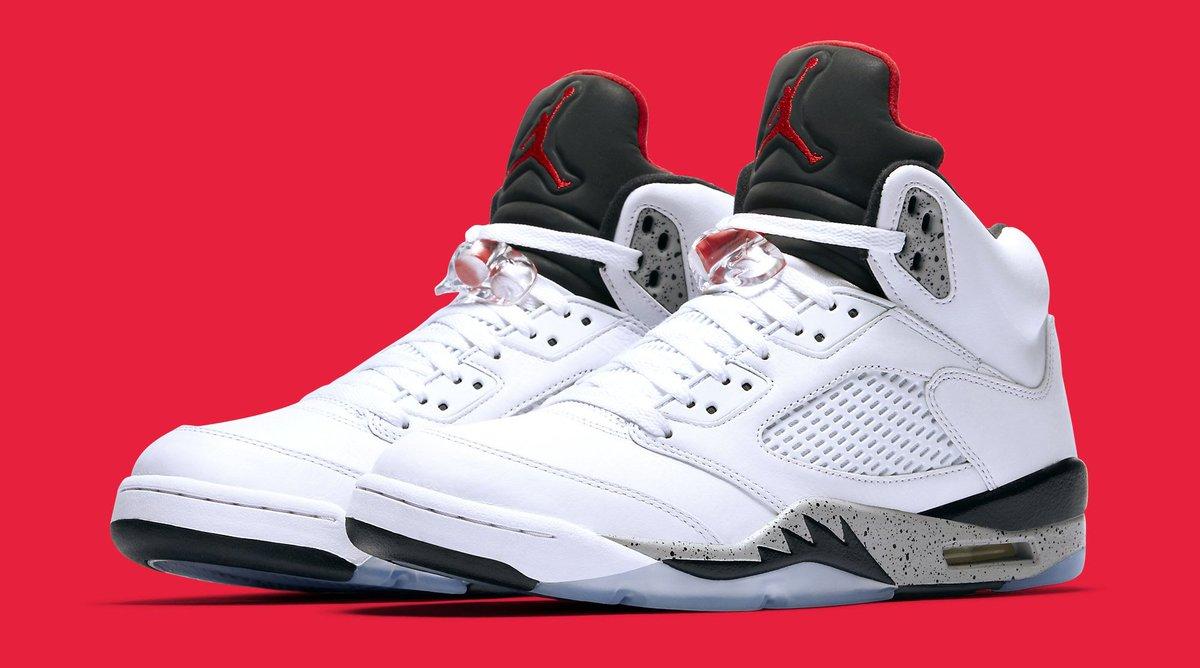 White Cement  Air Jordan 5 releasing on Aug. 5 1401e1566