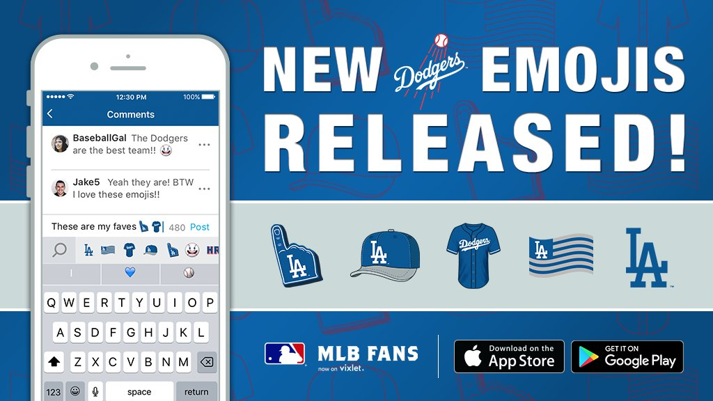 Los Angeles Dodgers On Twitter Custom Emojis To Help You Root On