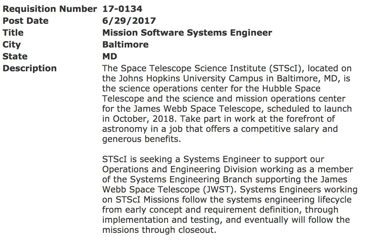 Software systems engineering salary - Stsci On Twitter Apply To Be A Jwst Mission Software Systems Engineer Here Https T Co Wt1nihuaw7 Https T Co Zxqj1ifhkl