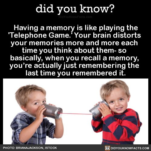 This week's #NeuroThursday will be one (of eventually many) on the weirdness of memory! Tonight: this meme, and the fluidity of memory. https://t.co/CTfAOGw3Es