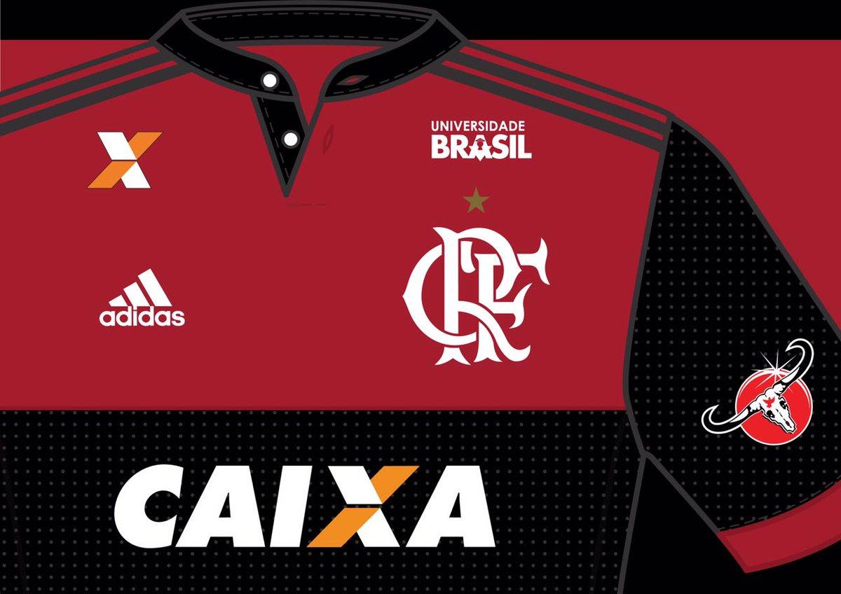 Bem-vinda, Universidade Brasil! Nova patrocinadora do futebol rubro-negro #VamosFlamengo