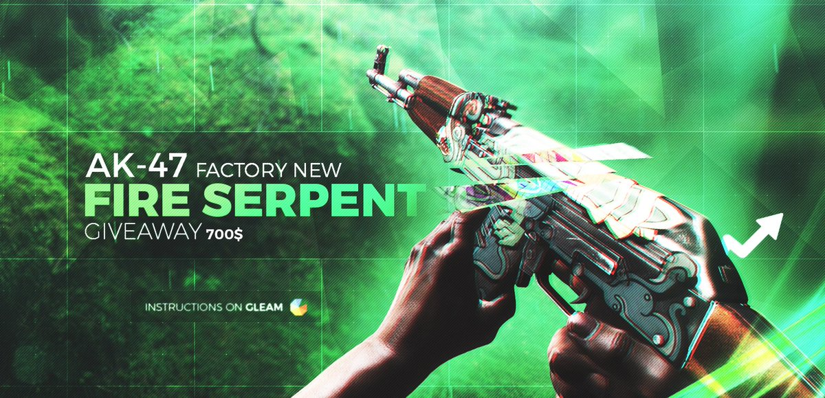 skinup on twitter ak 47 fire serpent factory new giveaway