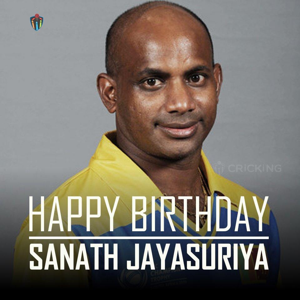 Happy Birthday Sanath Jayasuriya. The former Sri Lankan cricketer turns 48 today.
